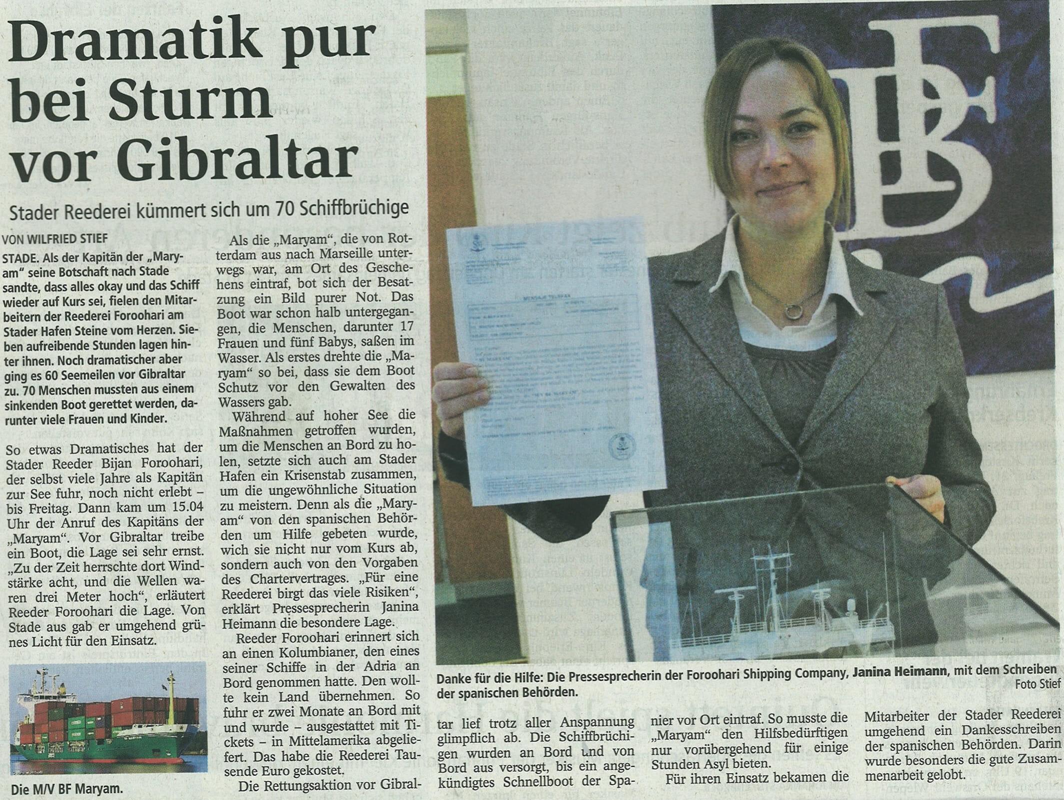 Stader Tageblatt 19.01.2011