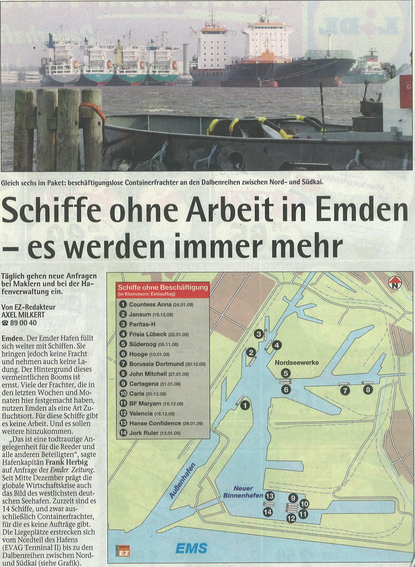 Emdenzeitung 03.02.2009