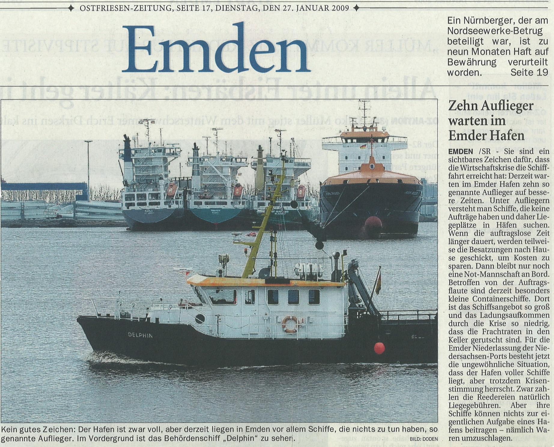 Ostfriesenzeitung 27.01.2009