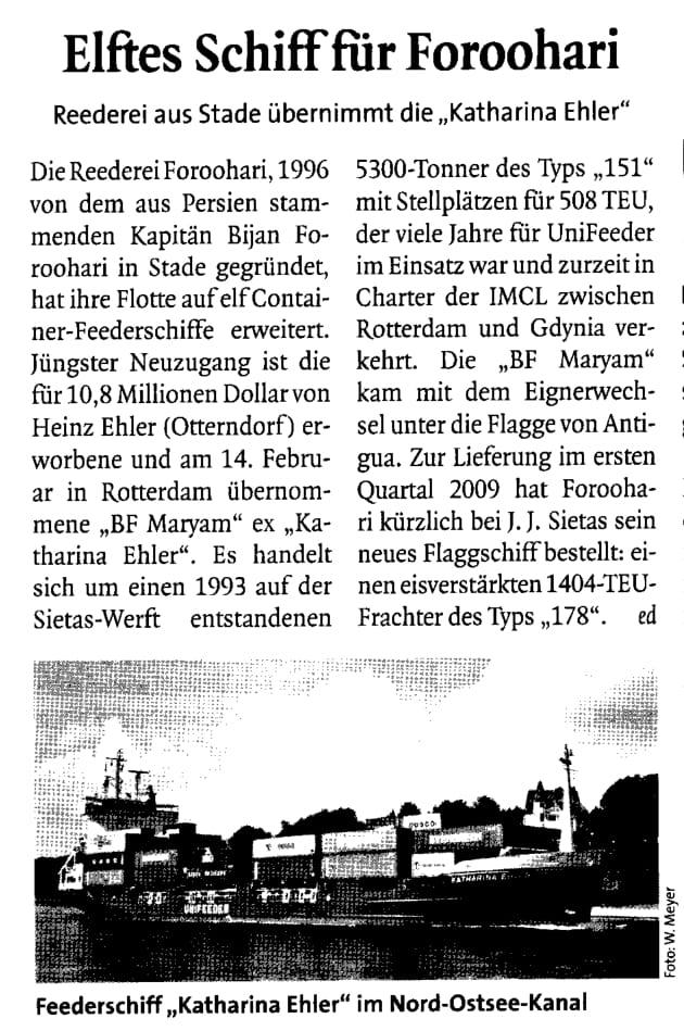 THB Deutsche Schifffahrtszeitung 21.02.2008