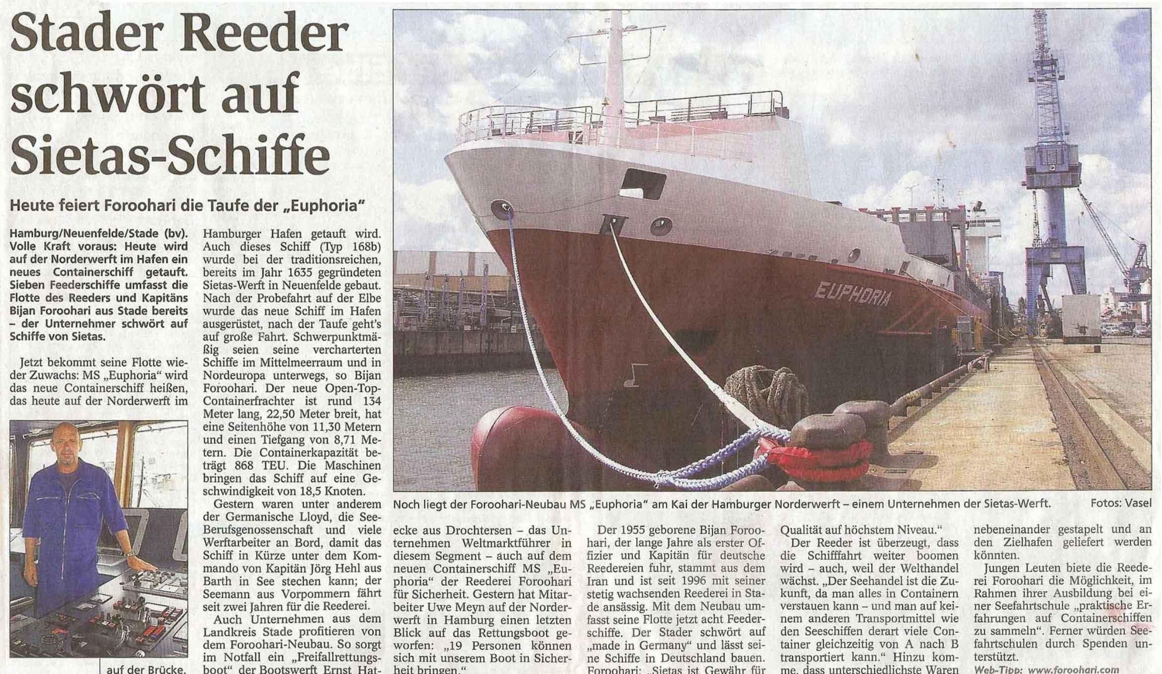 Stader Tageblatt 11.08.2006