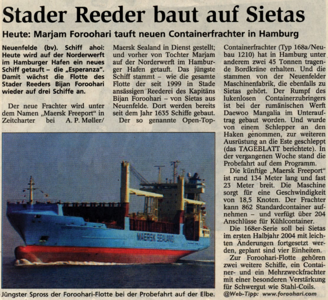 Stader Tageblatt 27.02.2003