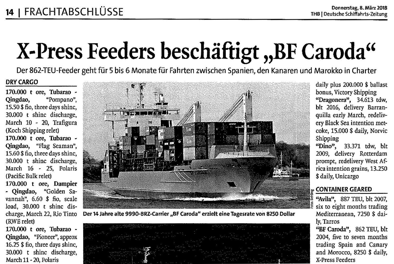 THB Deutsche Schifffahrtszeitung 08.03.2018