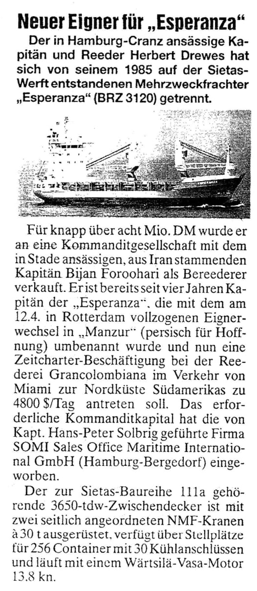 THB Deutsche Schifffahrtszeitung 15.04.1997