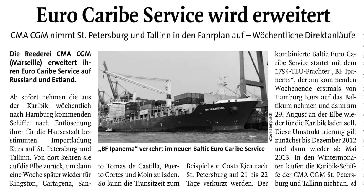 THB Deutsche Schifffahrtszeitung 10.08.2012