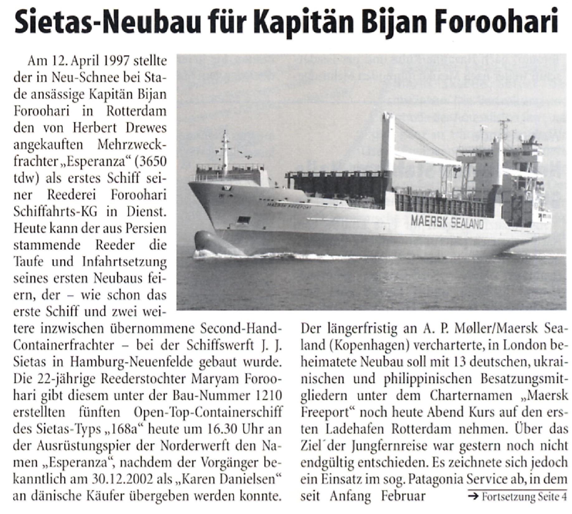 THB Deutsche Schifffahrtszeitung 07.03.2003