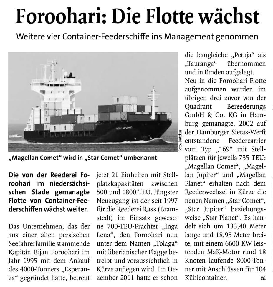 THB Deutsche Schifffahrtszeitung 09.08.2012