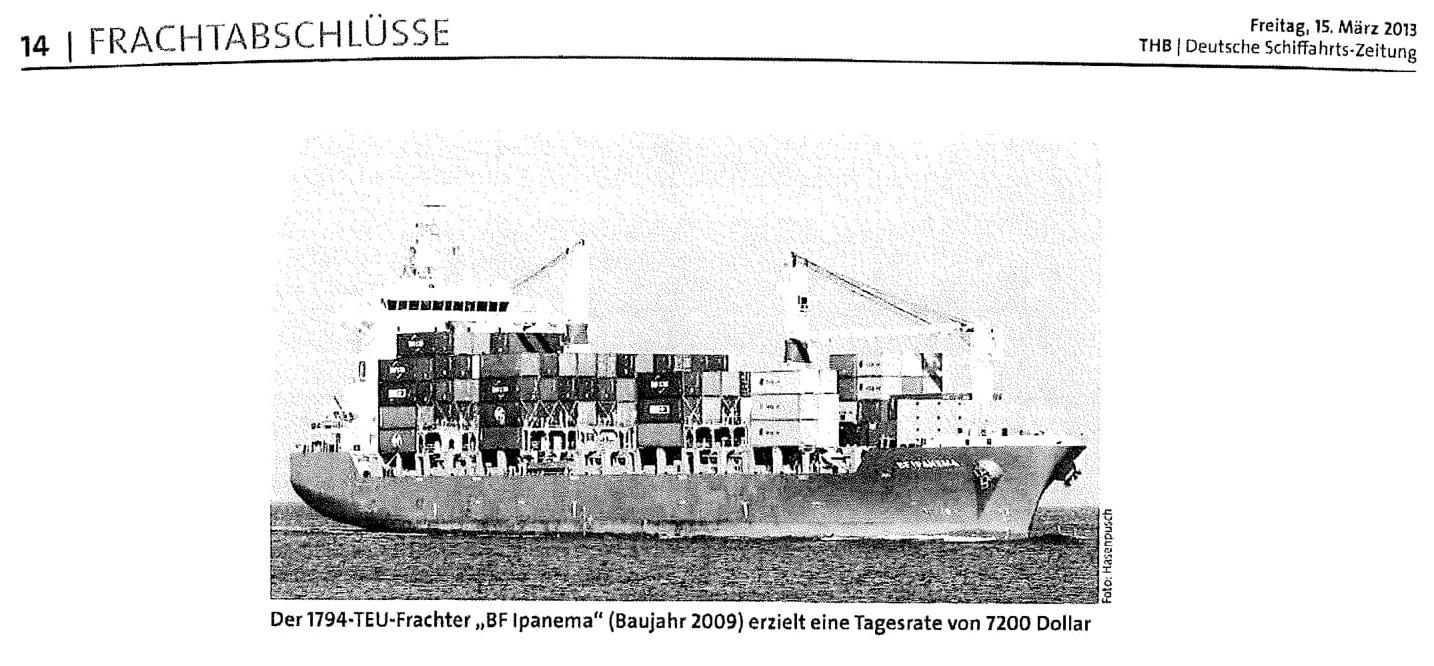 THB Deutsche Schifffahrtszeitung 15.03.2013