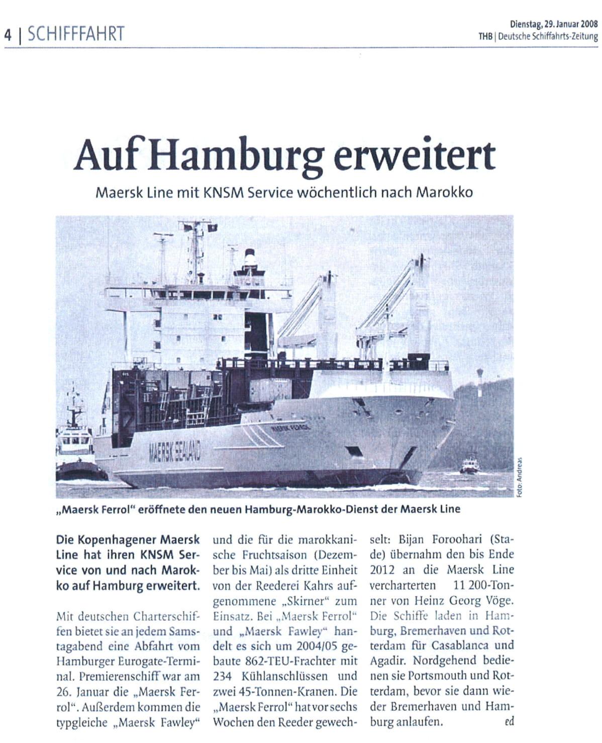 THB Deutsche Schifffahrtszeitung 29.01.2008
