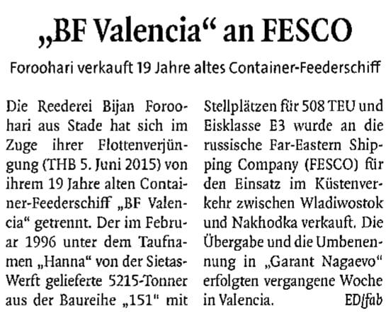 THB Deutsche Schifffahrtszeitung 27.07.2015
