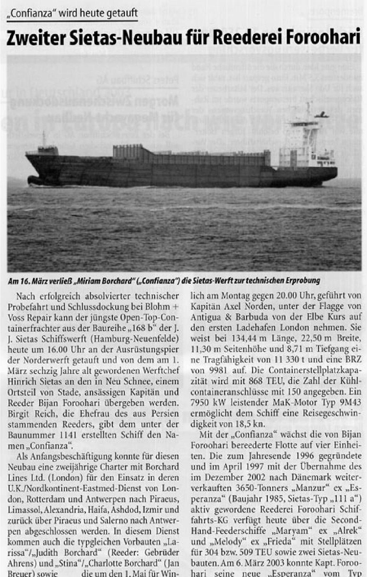 THB Deutsche Schifffahrtszeitung 26.03.2004